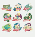 emblems of school subjects vector image vector image