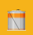 flat oil tank icon vector image vector image