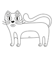 Funny cute red cat with white tummy coloring book vector image vector image