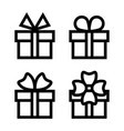 gift box icon set vector image vector image