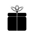 Gift symbol icon on white vector image