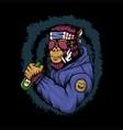 gorilla alcoholic vector image vector image