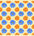 hand drawn flower seamless pattern wallpaper with vector image vector image