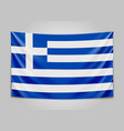 hanging flag of greece hellenic republic greek vector image