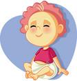 happy smiling baby vector image vector image