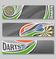 horizontal banners for darts board vector image vector image