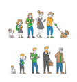 human age male and female character lifecycle vector image