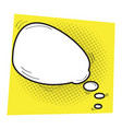 isolated comic speech bubble vector image vector image