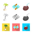 isolated object of pool and swimming icon vector image vector image