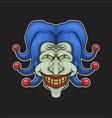 joker head vector image vector image