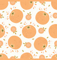 juice orange citrus fruit with leaves hand drawn vector image
