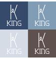 king monogram vector image