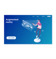 landing page template virtual augmented reality vector image