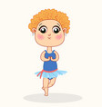 little cartoon ballerina girl dancing vector image vector image