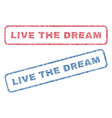 live the dream textile stamps vector image vector image