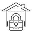 locked smart house icon outline style vector image vector image
