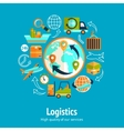 Logistic chain concept vector image vector image