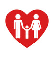 lovely family icon design vector image vector image