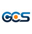 modern logo solution letter g c s vector image vector image