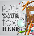 office or school stuffs and items on white vector image