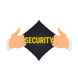 opening shirt security vector image vector image