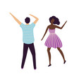 people dancing in night club clubbers disco vector image vector image