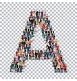 People letter alphabet 3d vector image vector image