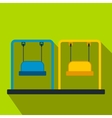 Playground swing flat icon vector image vector image
