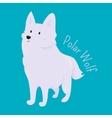 Polar Wolf Child fun pattern icon vector image vector image