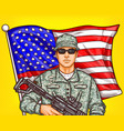 pop art patriotic a male vector image vector image