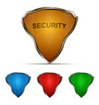 protection shield set vector image vector image