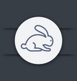 rabbit hare line icon eps 10 file vector image vector image