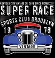 retro car vintage car sport car vector image vector image
