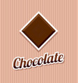 retro chocolate on striped background vector image