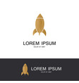 rocket gold icon logo vector image vector image