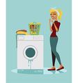 Sad housewife vector image vector image