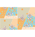 seamless cute abstract summer pattern vector image vector image