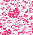 Seamless love pattern vector image vector image