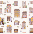 seamless pattern with city buildings elegant vector image vector image