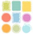 set doodle frames for bullet journal vector image vector image