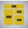 Set of corporate business identity vector image vector image