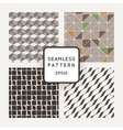 Set of four seamless geometric patterns vector image vector image
