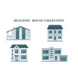 set of houses residential house realistic house vector image