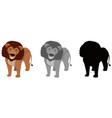 set of lion character vector image vector image