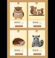 set wild animal templates for web design 3 vector image