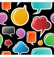 Social media bubbles pattern background vector image