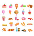 street food icons vector image