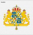 symbol of sweden vector image