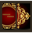 template for design of the booklet with vintage go vector image vector image