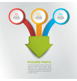 three arrows merging into one point infographics